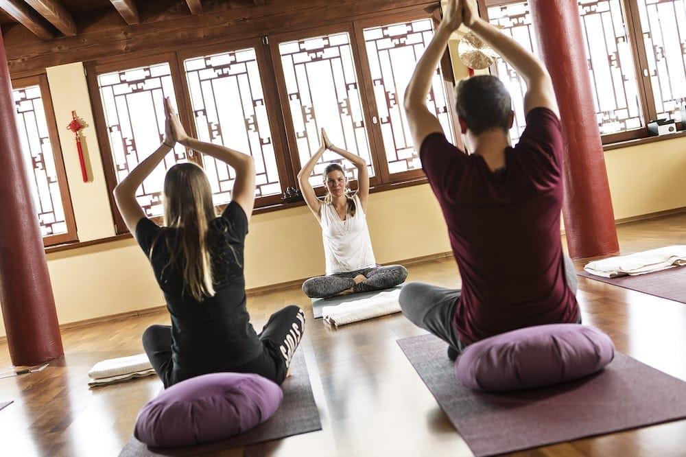 Yoga mit Corinna während des Aktivprogramms